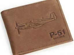 Кожаный кошелек Boeing P-51 Mustang Leather Wallet