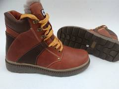 Кожаные ботинки с натур. мехом. Есть большой размеры.39-49