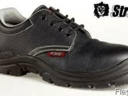 Кожаные туфли для рабочих с металлическим подноском