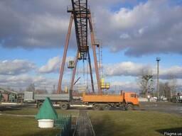 Козловой кран КС 30-32Б, железнодорожная стрелка,рельсы Р-50