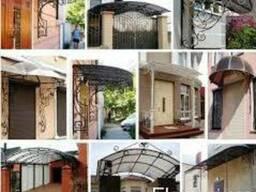Козырьки Поликарбонат- Проектирование, производство и монтаж