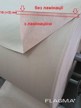 Крафт бумага мешочная ламинированная полиэтиленом с отступом