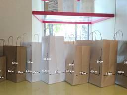 Крафт пакеты коричневые, белые, цветные. Печать на пакетах