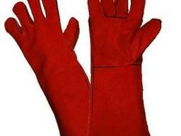 Краги спилковые, перчатки для сварщиков