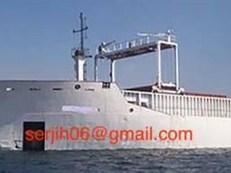 Dock crane, монтажный кран для плавучего дока