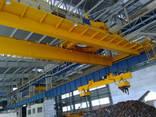 Кран мостовой двухбалочный магнитный г/п 30/5 т. - фото 1