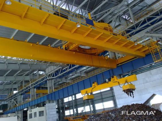 Кран мостовой двухбалочный магнитный г/п 32/5 т.