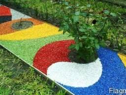 Декоративный цветной гравий