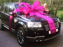 Красиво украсим машину в подарок, большой бант с лентами