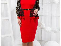 Красивое Платье трикотажное женское (48-54), доставка по. ..