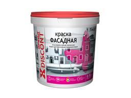 """Краска для фасадов Ореол """"Discont"""" атмосферостойкая, 1,5 кг"""