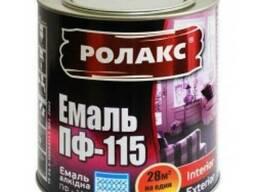 Краска эмалевая (белая) Ролакс ПФ-115; Вес: 0. 9кг;