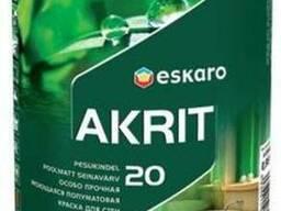 Краска интерьерная высококачественная Akrit-20 0. 95 л