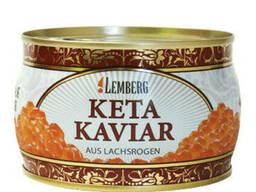 Красная лососевая икра кетовая кошерная Lemberg Premium . ..