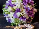 Красочные, сочные свадебные букеты - фото 3