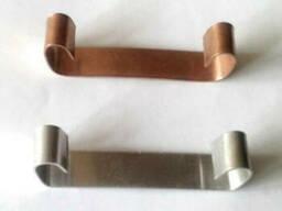 Крепления для нагревательного кабеля в желобе алюминиевое