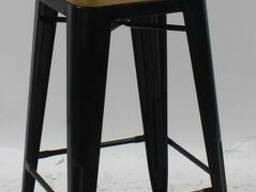 Кресло барное Tolix MC-012К черное, белое, сталь, графит