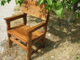 Кресло деревянное для кафе, дачи