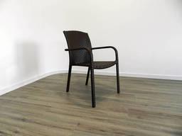 """Кресло для кафе Микс-Лайн """"Тетра Люкс"""" Венге(темный шоколад)"""