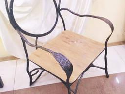 Кресло эксклюзивное(кованое основание)