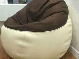Кресло груша из Велюра и кожзама купить недорого
