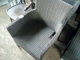 Кресло из искусственного ротанга б/у