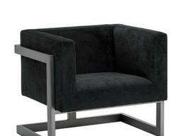 Кресло Кафка Waldberg мягкое в гостиную, кабинет, кафе Бук, до 110 кг, Черное