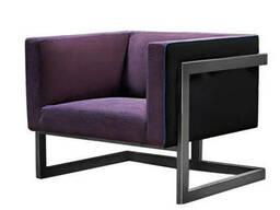 Кресло Кафка Waldberg мягкое в гостиную, кабинет, кафе Бук, до 110 кг, Фиолетовый
