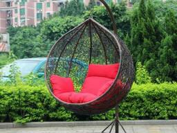 Купити садову плетену меблі крісло кокон кулю у Львові