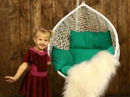Крісло кокон підвісний дитячий гамак з ротанга