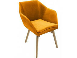 Кресло Маркус Waldberg мягкое в гостиную, кабинет, кафе Бук, до 110 кг, Желтый