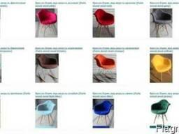 Кресло Paris Wool (Пэрис Шерсть) серое, фиолетовое, красное