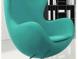 Кресло SDM Эгг (Egg) с наклонной спинкой поворотное ткань Голубой
