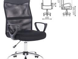 Кресло Tender MG-330, с подлокотниками, хром, черно
