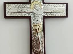 Крест - посеребрение 23*17 см.