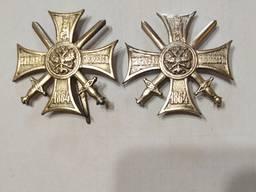 «Крест. За службу на Кавказе 1864 г. » (офицерский серебряный)