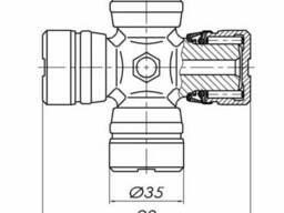 Крестовина ПВМ Т40А-2304020 (35х98)