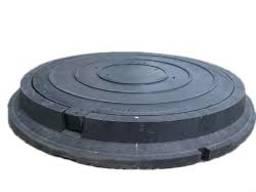 Кришка люка садового легкого полімерпіщаного А15 (чорна)