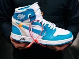 Кроссовки Nike Air Jordan 1 Off white Blue, Найки , Кросівки