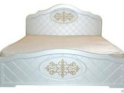 Кровать белая МДФ