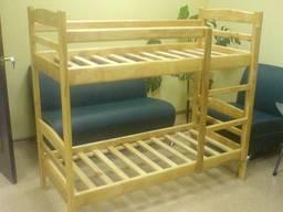 Кровать деревянная двухъярусная с лестницей 190х80 см