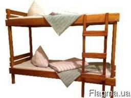 Кровать деревянная ( сосна) двухрусная, 190х70 см