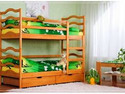 Кровать двухъярусная детская трансформер София деревянная
