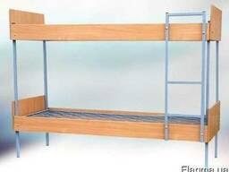 Кровать двухярусная комбинированная с ДСП Спинками