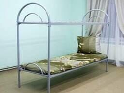 Кровать двухъярусная Л-1 (быльца металл) 190х70