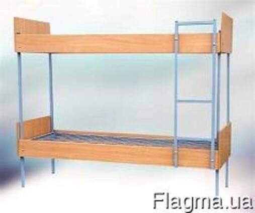 Кровать двухъярусная с быльцами и лесницей