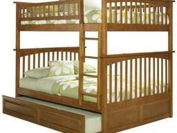 Кровать двухъярусная Щит120 из натурального дерева ольхи