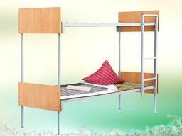 Кровать двухъярусная спинка ДСП