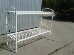 Кровать двухъярусная - трансформер с металлическими спинками