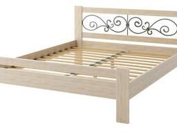 """Кровать из бука, сосны, дуба """"Жасмин"""". Оптом"""